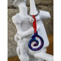 Chaveiro Espiral vermello Sargadelos
