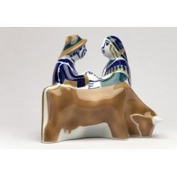 Pareja con vaca figura decorativa Sargadelos catálogo online