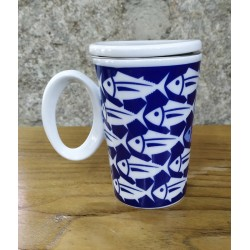 Taza mug para infusión Bonito Azul