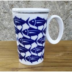 Taza mug Bonito del Norte Blanco de Sargadelos