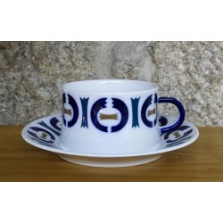 Taza de desayuno con plato Vilar de Donas