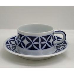 Cunca de té con prato Martiño Sargadelos