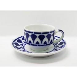 Cunca de café con prato Itálica Sargadelos