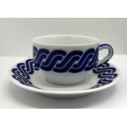 Cunca de té con prato Cadrelo Sargadelos