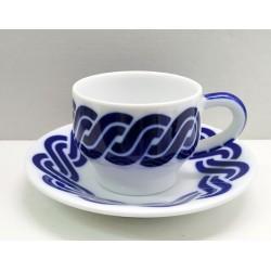 Cunca de café con prato Cadrelo Sargadelos