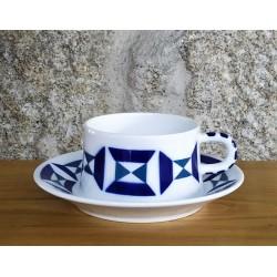 Cunca de té con prato Monférico Sargadelos