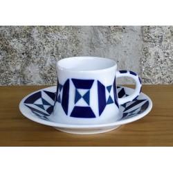 Cunca de café con prato Monférico Sargadelos
