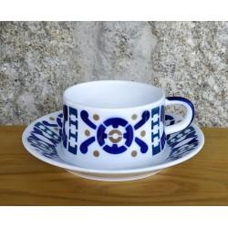 Cunca de té con prato Burela Sargadelos