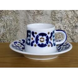 Cunca de café con prato Burela Sargadelos