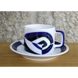 Cunca de té con prato P Sargadelos