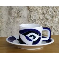 Taza de café con plato P Sargadelos