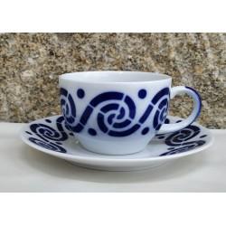 Taza té con plato Espiroide Sargadelos