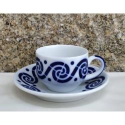 Taza de café con plato Espiroide Sargadelos