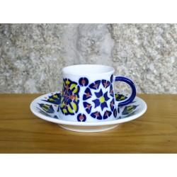 Taza té con plato Toxo Color