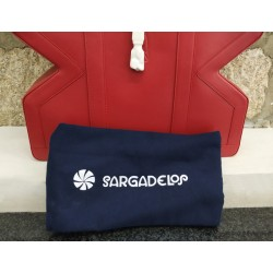 Shopper Figa rojo: detalle bolsa de fieltro
