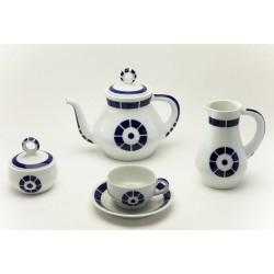 Juego de Té Coroa Sargadelos catálogo cerámica online